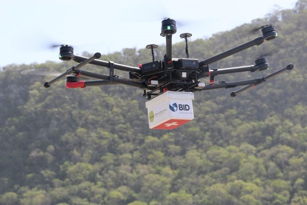 Drones facilitam entrega de medicamentos no combate à Covid-19