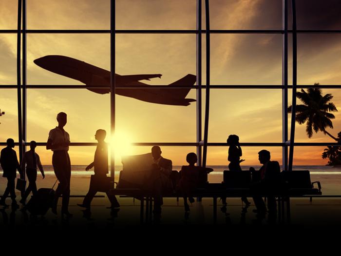 aeroporto aviao decolagem